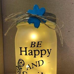 Lighted mason jar